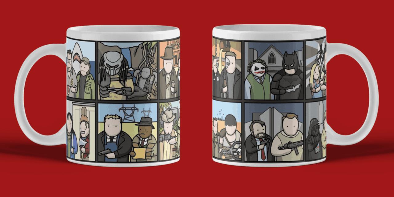 Comic funny mug