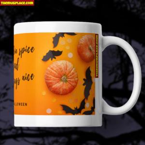 Halloween Mug Pumpkings bats