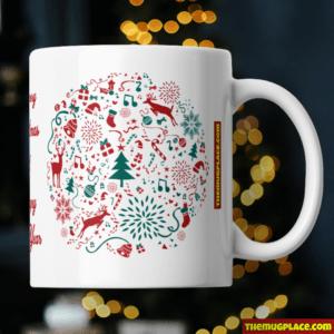 Christmas Mug Personalised Text