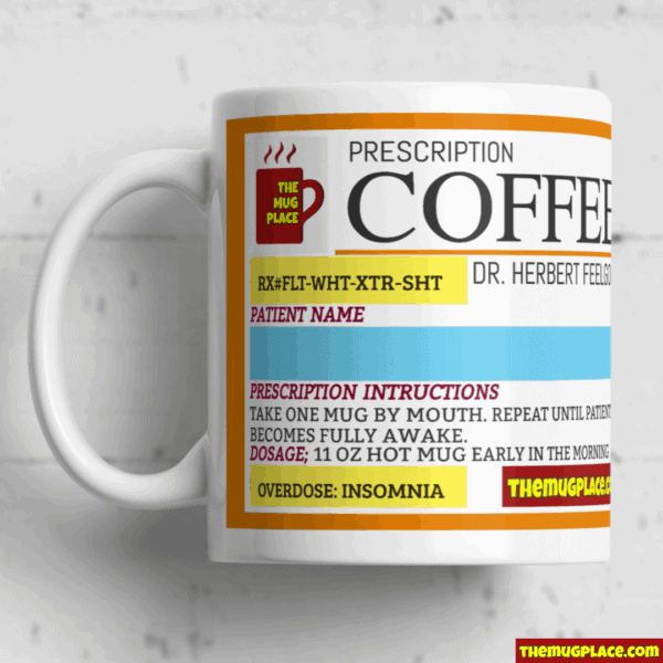 Coffee Drug Label Mug