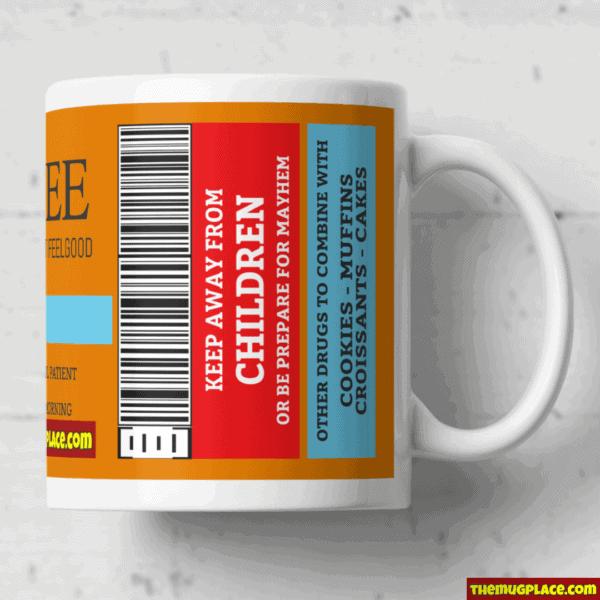 Drug Label Mug