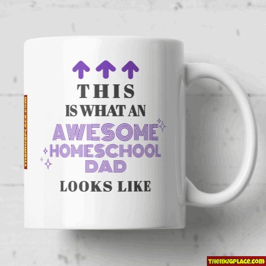 Homeschool Mum mug purple