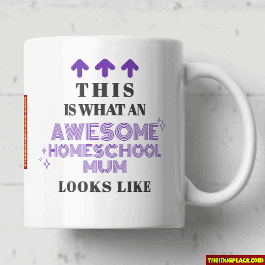 Homeschool Dad mug purple